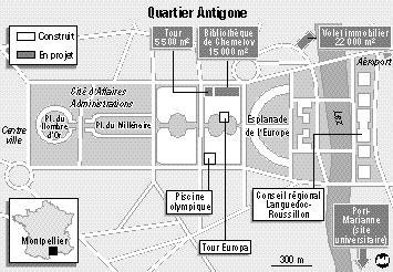 Montpellier Ach Ve La Construction Du Quartier D 39 Antigone