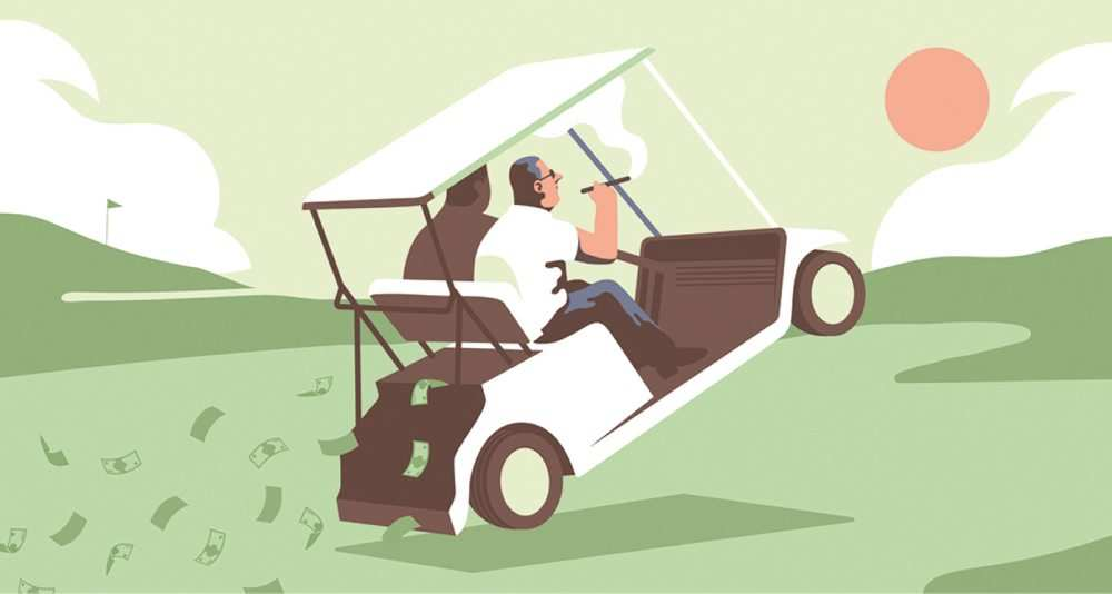 Golf: quand les PDG se mettent au green