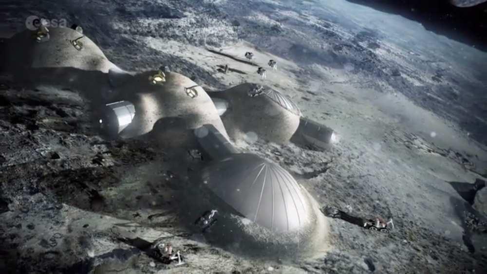 L'agence spatiale européenne imagine un village sur la Lune